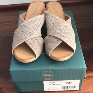 Bueno Hand Made Leather Mules Sandals Size 39
